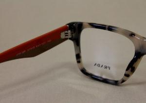 ottica rizzieri occhiale prada montatura rossa
